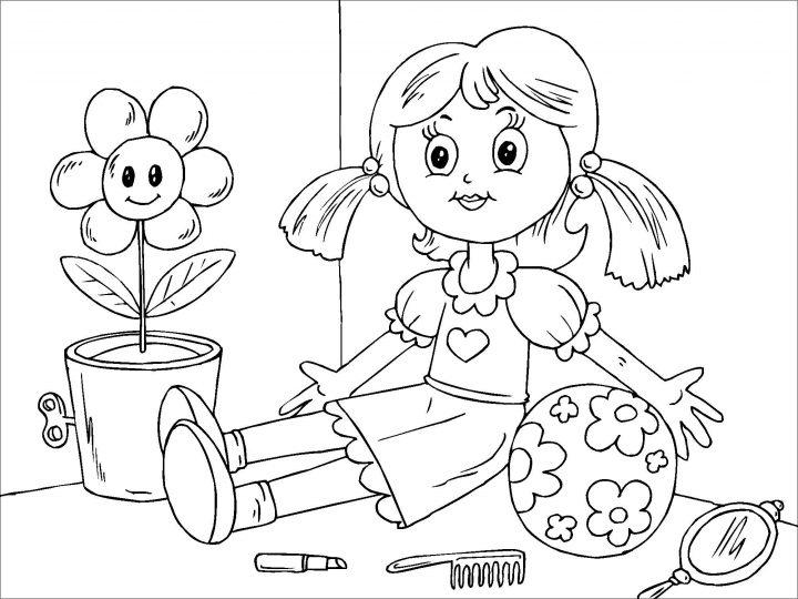 ausmalbilder puppe  kinderbilderdownload  kinderbilder