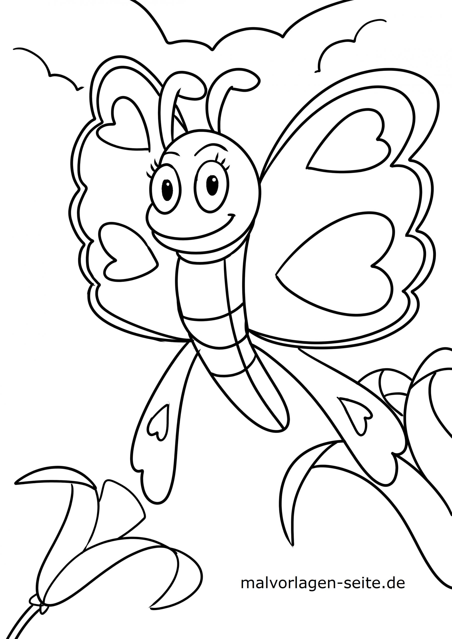 Malvorlage Schmetterling - Ausmalbilder Kostenlos Herunterladen mit Malvorlagen Schmetterling