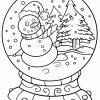Malvorlage Schneekugel | Winter - Ausmalbilder Kostenlos in Ausmalbild Winter