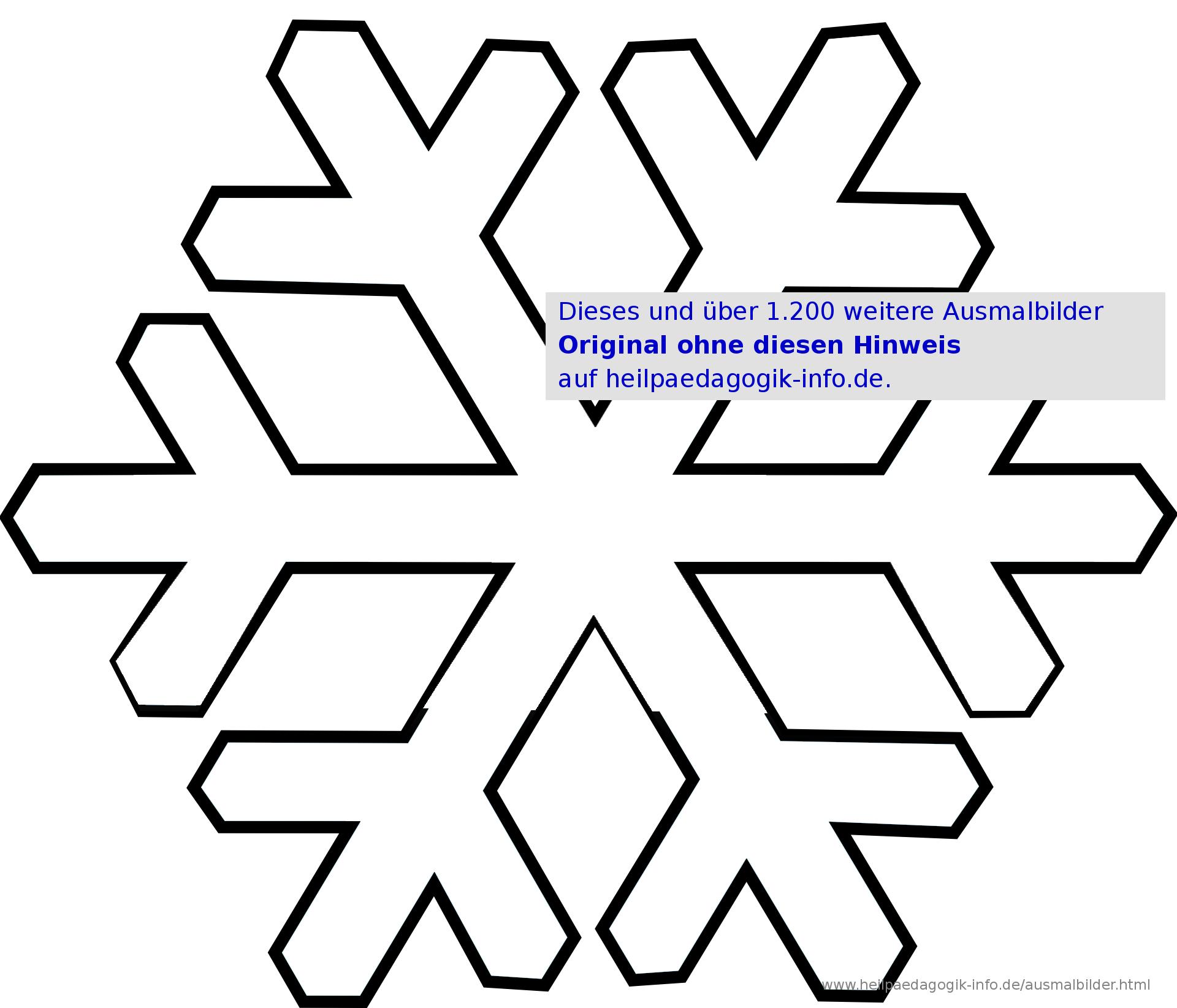 Malvorlage Schneestern | Coloring And Malvorlagan bei Winterbilder Zum Ausdrucken
