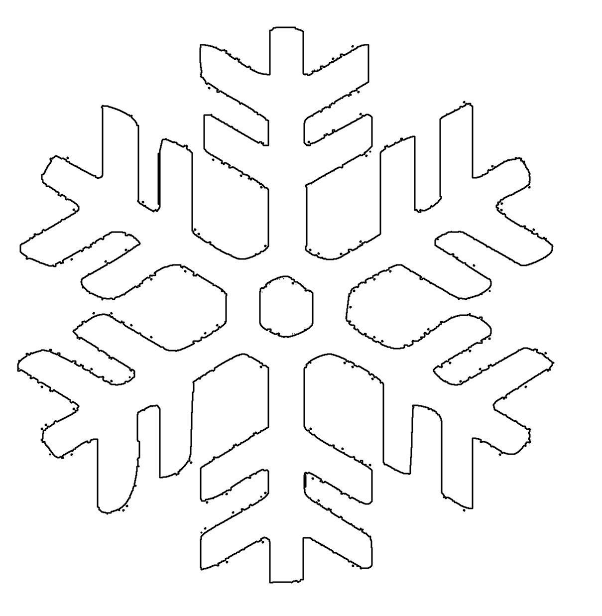 Malvorlage Schneesterne | Coloring And Malvorlagan in Schneeflocken Vorlagen Zum Ausschneiden
