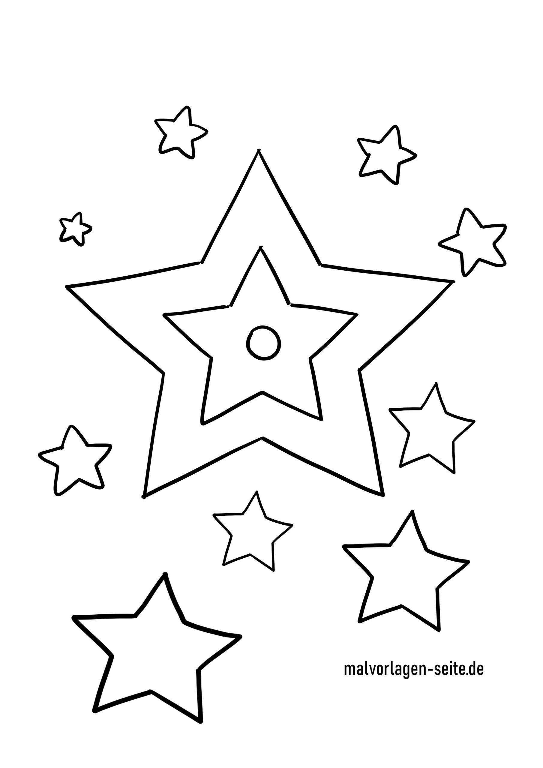 Malvorlage Sterne - Ausmalbilder Kostenlos Herunterladen bei Malvorlage Stern Groß