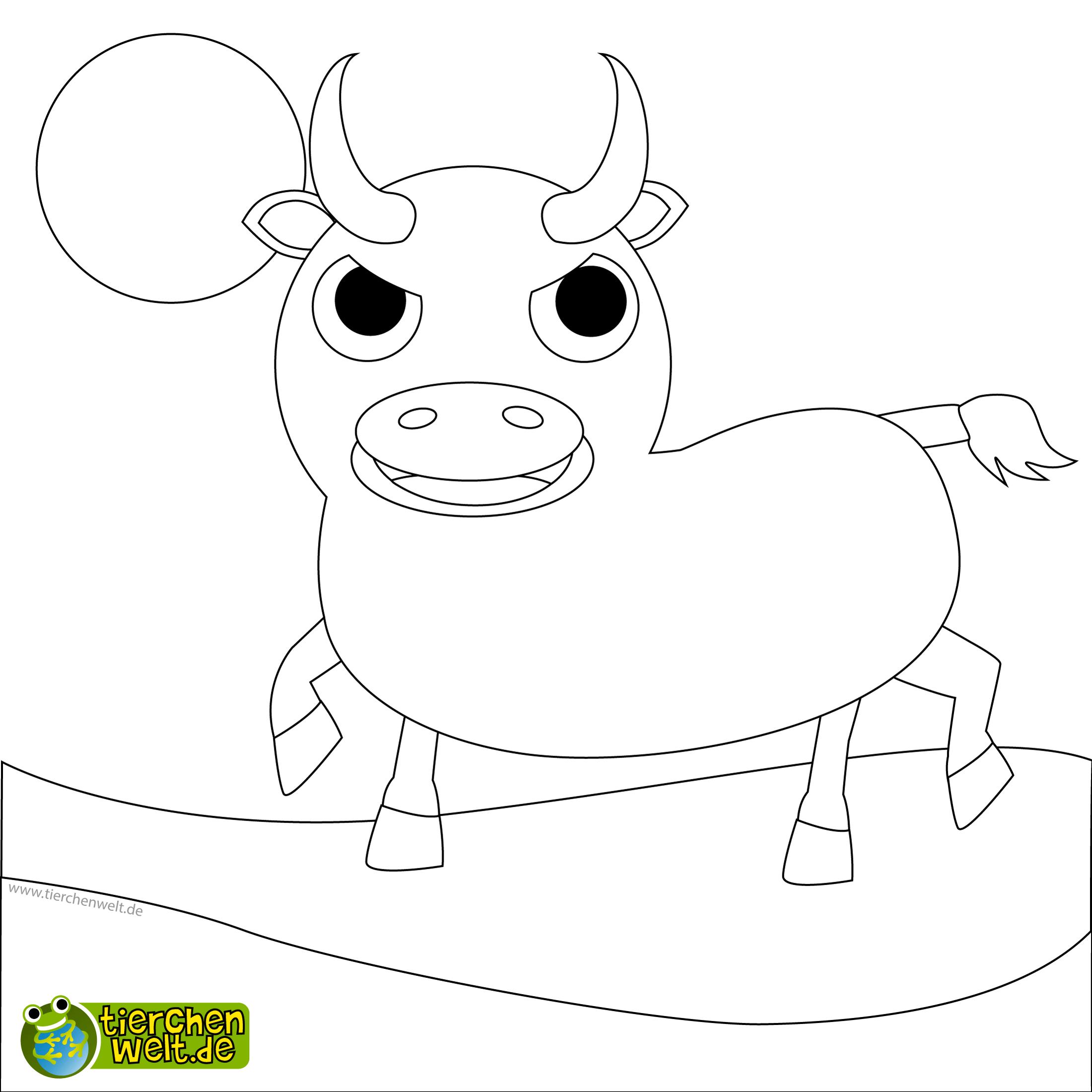 Malvorlage Stier innen Kostenlose Malvorlagen Für Kinder
