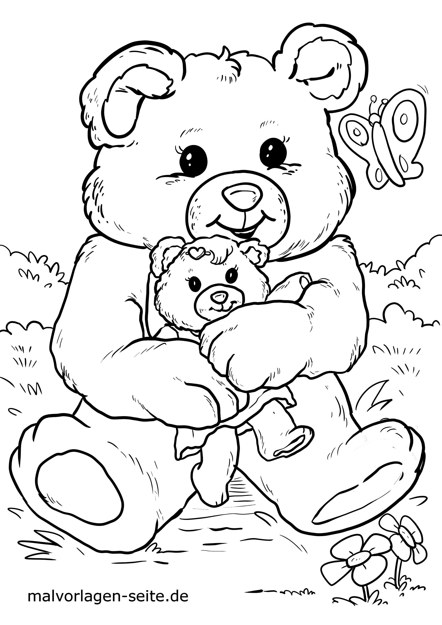 Malvorlage Teddybär | Kinder - Ausmalbilder Kostenlos innen Teddybär Malvorlage