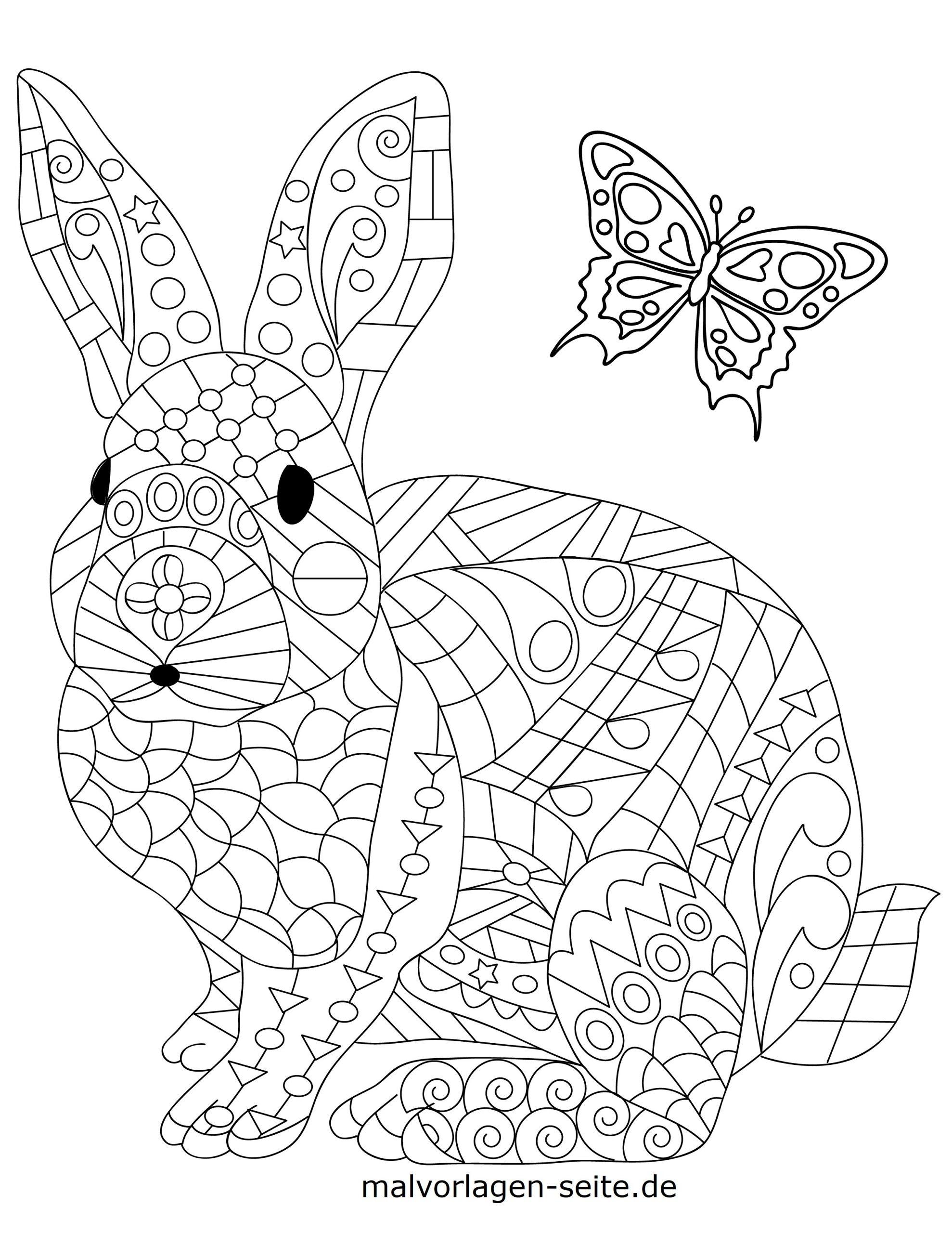 Malvorlage Tiermandala Hase   Tiere Mandala - Ausmalbilder verwandt mit Ausmalbilder Zum Ausdrucken Tiere