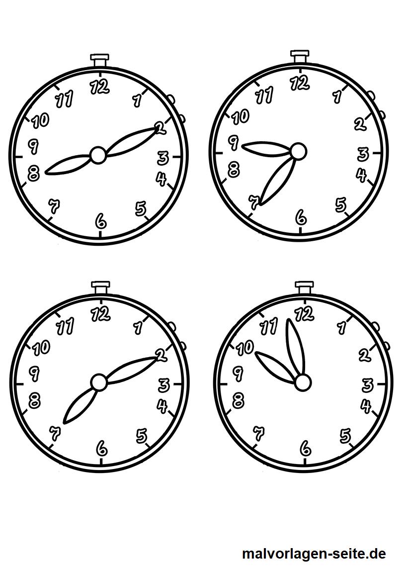 Malvorlage Uhrzeiten - Ausmalbilder Kostenlos Herunterladen bestimmt für Ausmalbilder Uhr Vorlagen