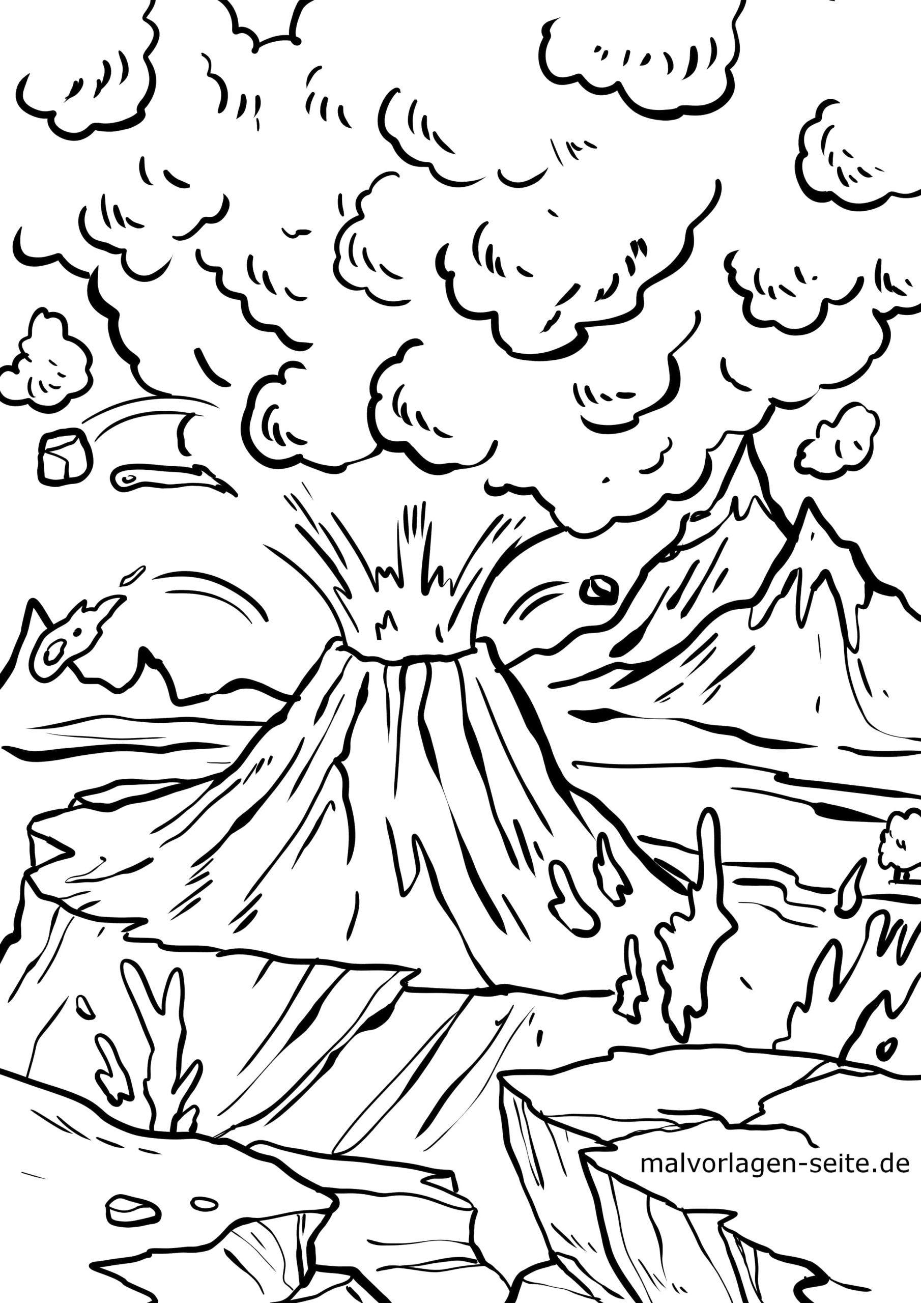 Malvorlage Vulkan - Ausmalbilder Kostenlos Herunterladen für Ausmalbild Vulkan