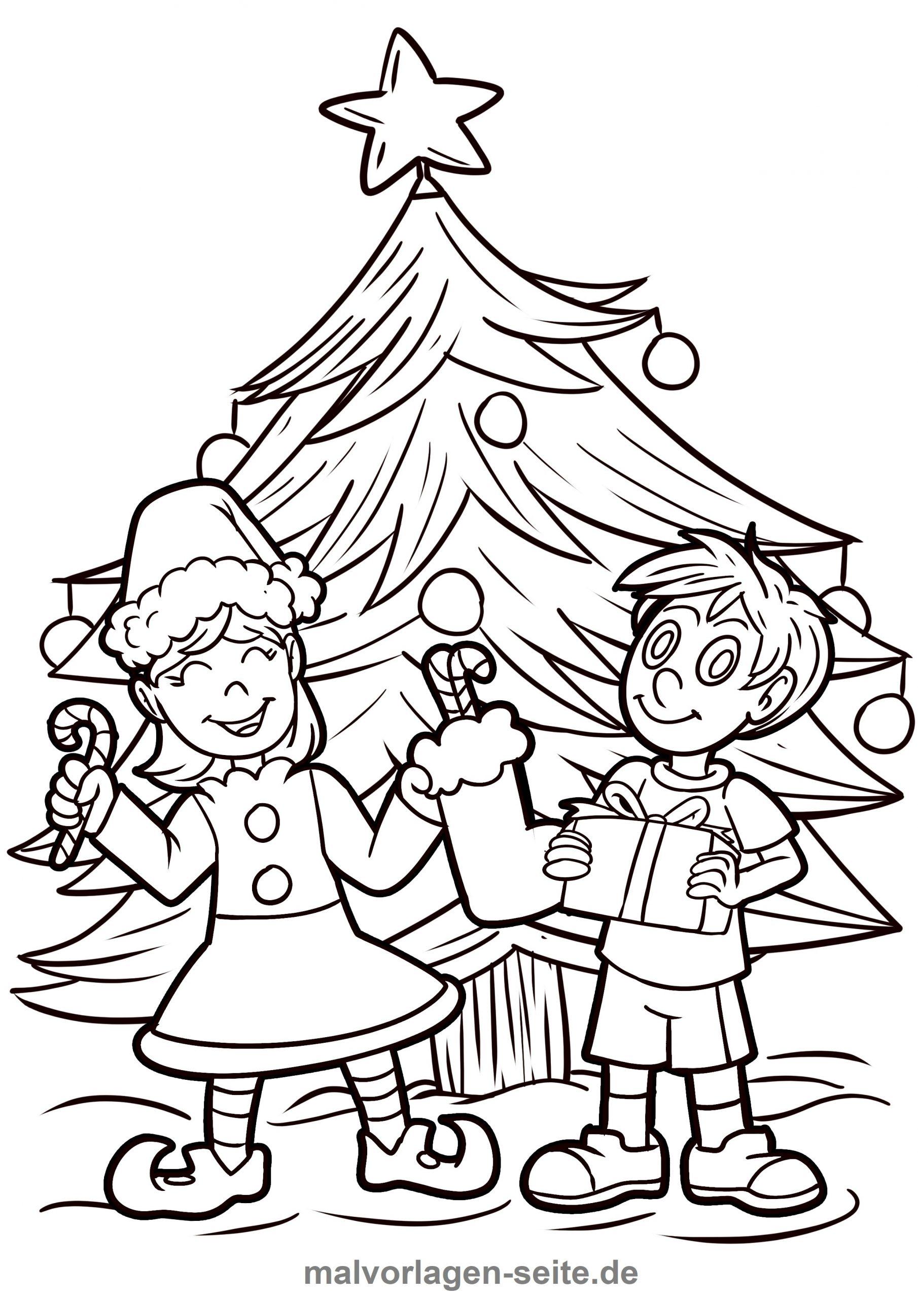 Malvorlage Weihnachten - Ausmalbilder Kostenlos Herunterladen bei Ausmalbild Weihnachten Kostenlos