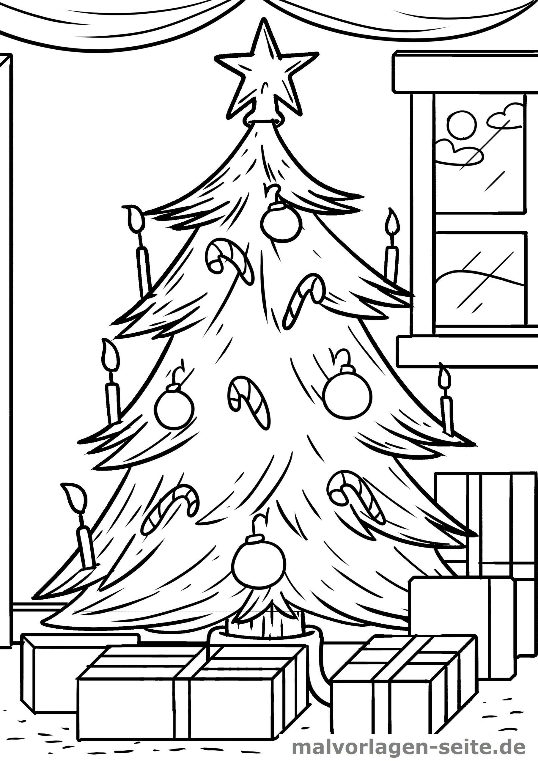 Malvorlage Weihnachten Weihnachtsbaum - Ausmalbilder bestimmt für Weihnachtsbaum Malvorlage