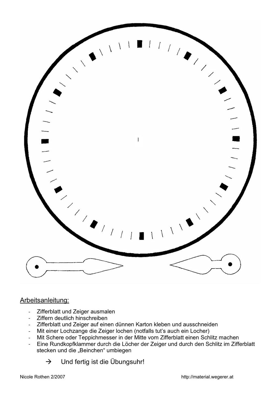 Malvorlage Zifferblatt | Coloring And Malvorlagan innen Ausmalbilder Uhr Vorlagen