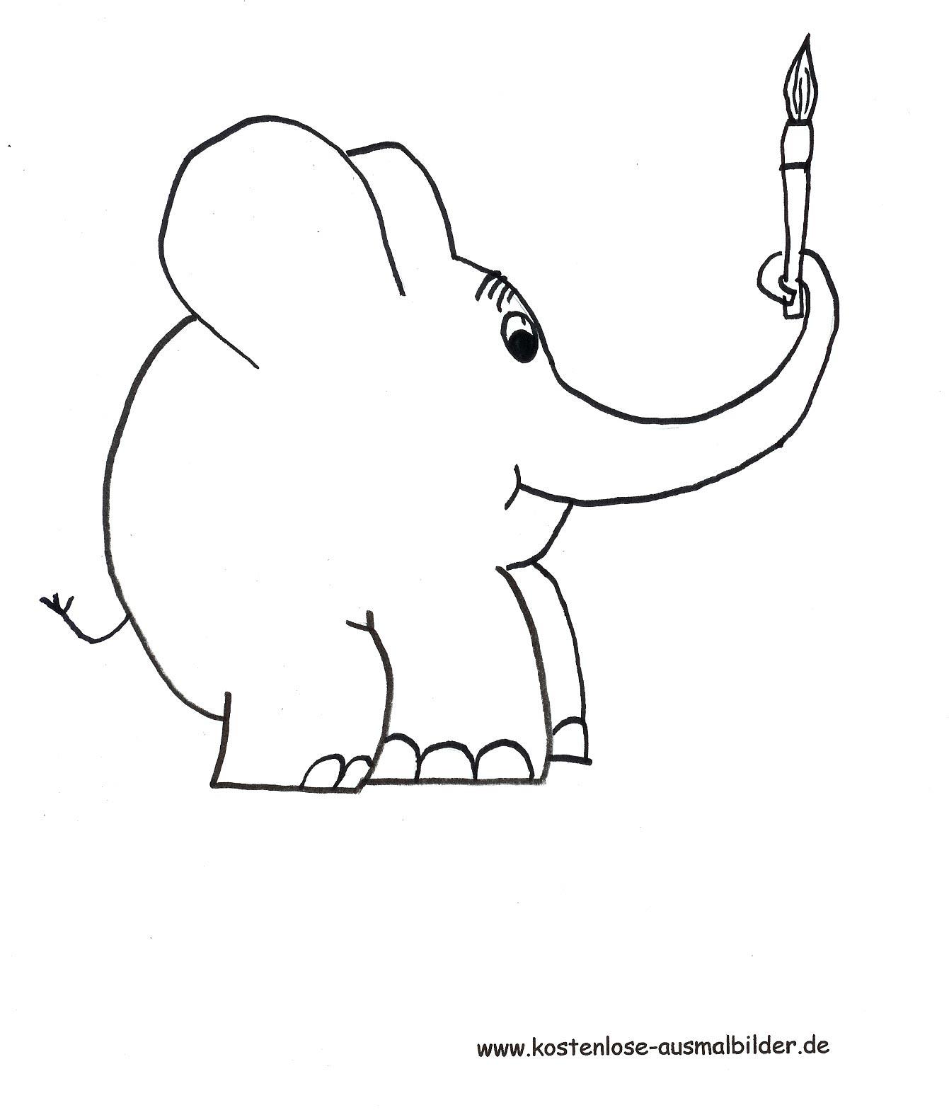 Malvorlagen - Ausmalbilder Elefant | Ausmalbilder Fernsehen mit Malvorlage Elefant