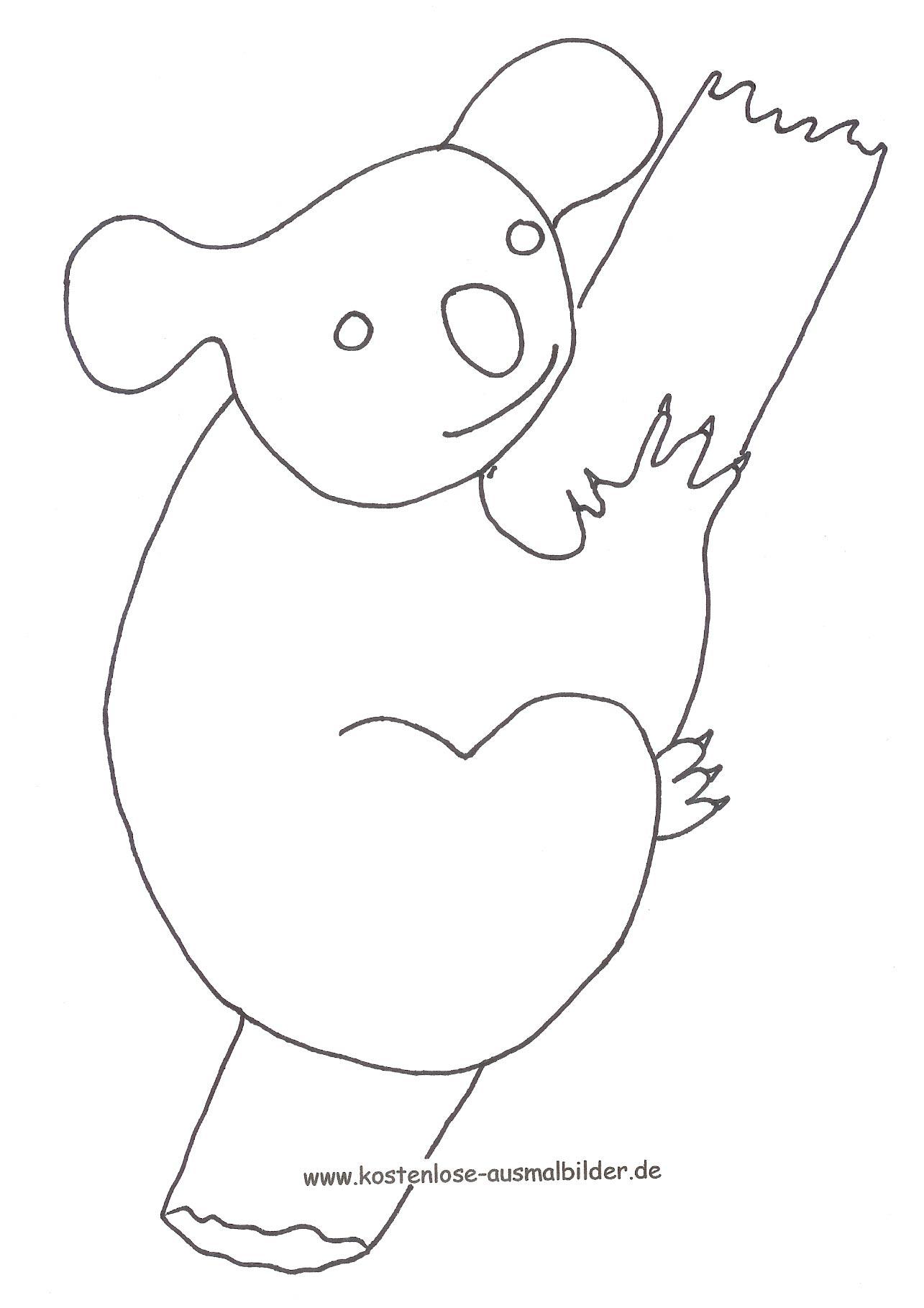 Malvorlagen - Ausmalbilder Koala | Ausmalbilder in Malvorlage Koala