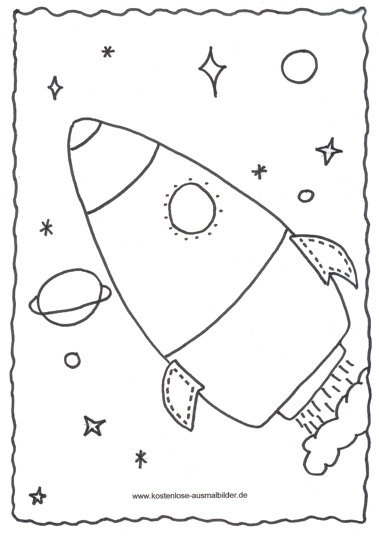 Malvorlagen - Ausmalbilder Rakete | Ausmalbilder bei Vorlage Rakete Malen