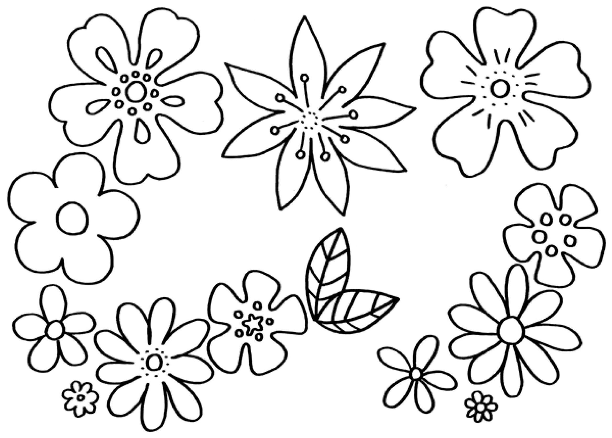 Malvorlagen Blumen - Kostenlose Ausmalbilder | Mytoys Blog ganzes Blume Zum Ausmalen