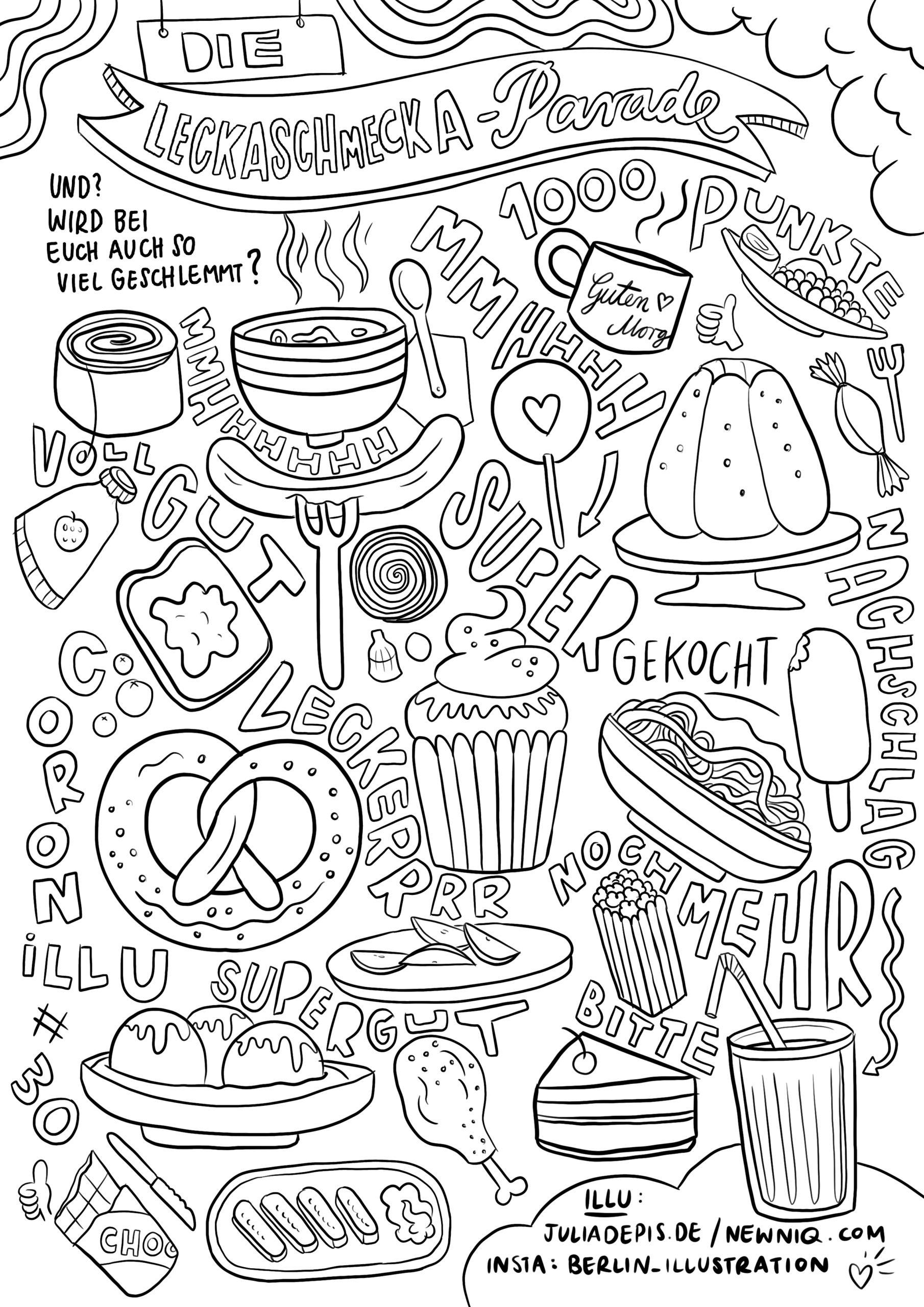 Malvorlagen Für Kinder Gegen Den Corona-Koller - Newniq ganzes Ausmalbilder Essen