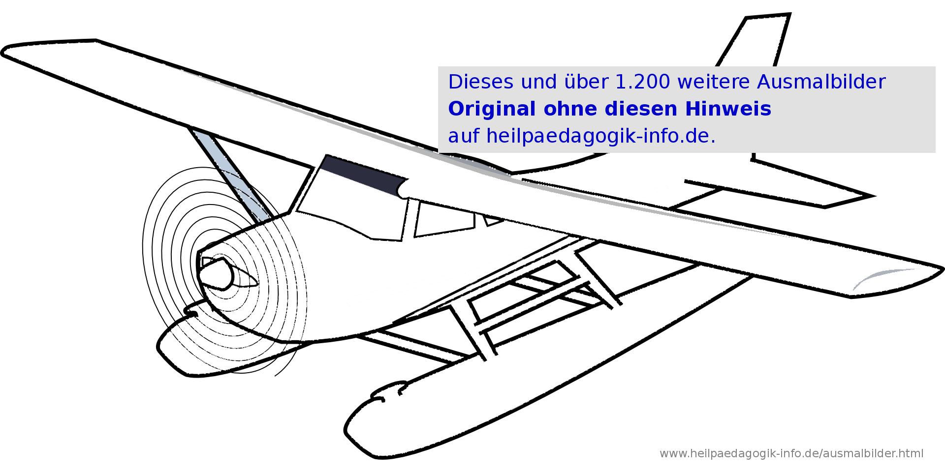 Malvorlagen Hubschrauber Flugzeuge   Coloring And Malvorlagan über Flugzeug Zum Ausmalen