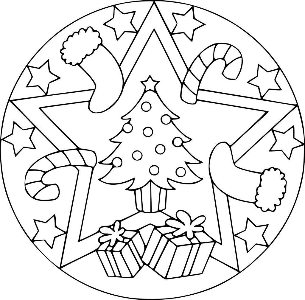 Malvorlagen Mandala Noel (Mit Bildern)   Ausmalbilder ganzes Weihnachten Ausmalbilder