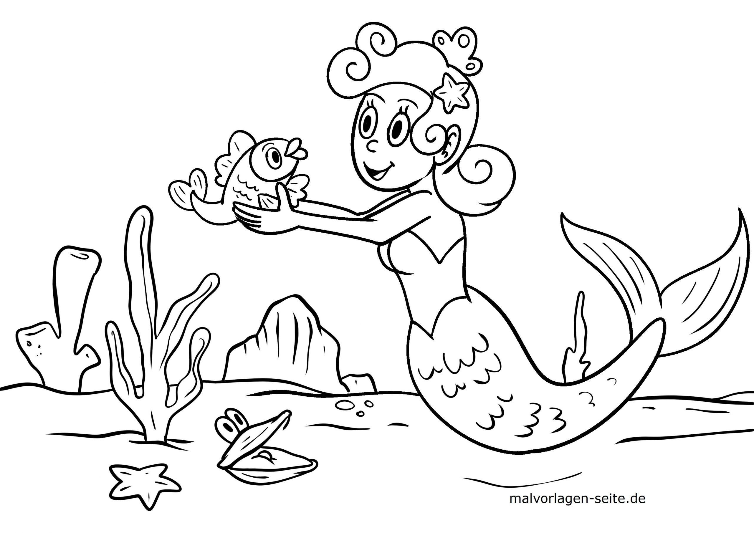 Malvorlagen Meerjungfrauen Kostenlos Herunterladen verwandt mit Meerjungfrauen Ausmalbilder