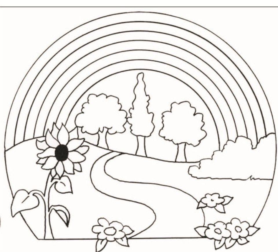 Malvorlagen Regenbogen Ausdrucken 3 | Ausmalbilder, Schöne ganzes Ausmalbilder Regenbogen