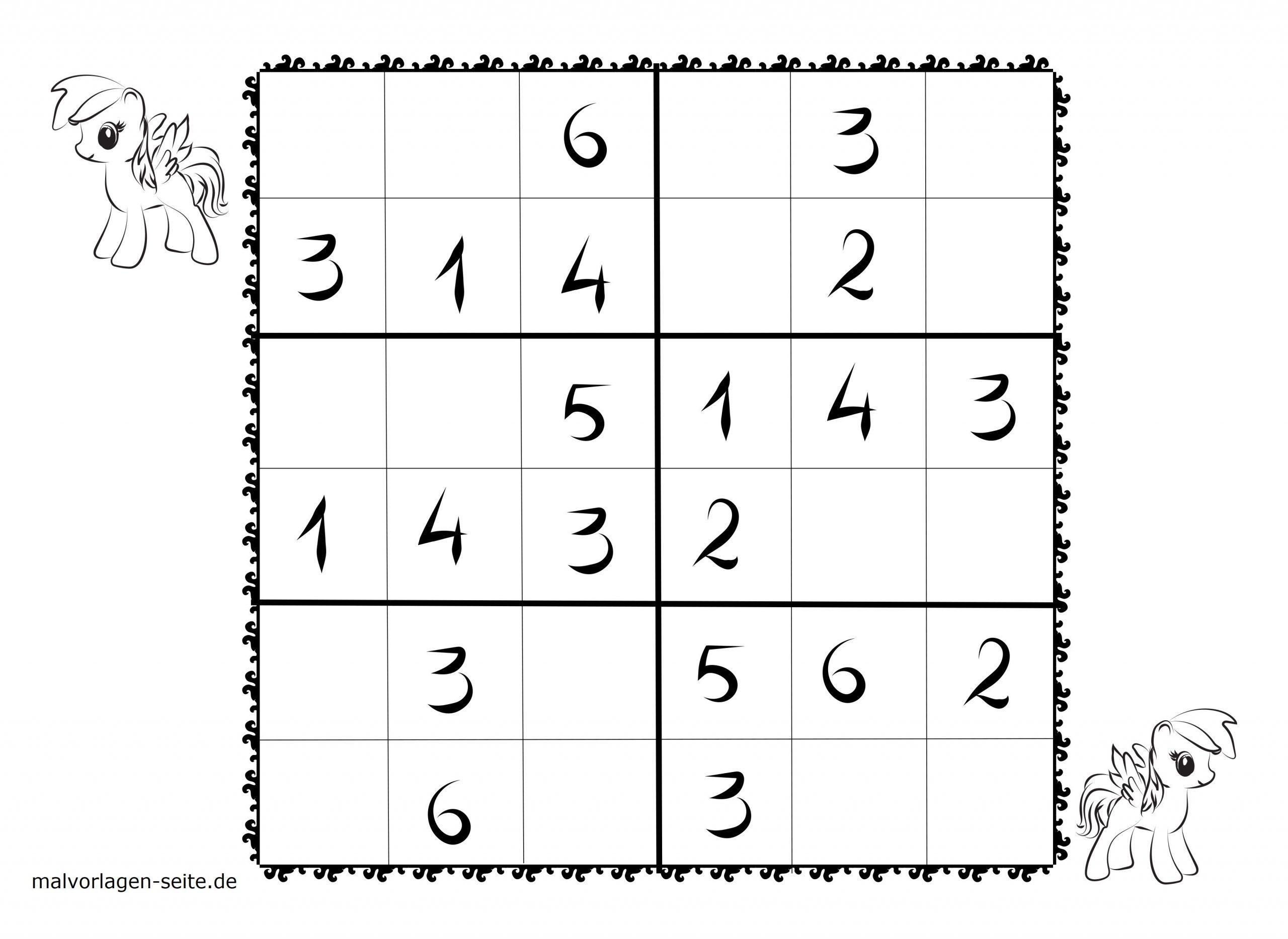 Malvorlagen Sudoku Kinder | Coloring And Malvorlagan mit Sudoku Zum Ausdrucken Sehr Schwer