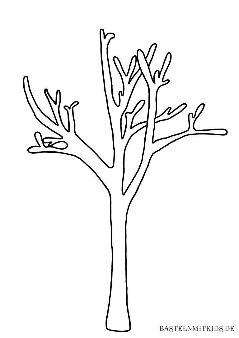 Malvorlagen Und Briefpapier Gratis Zum Drucken – Basteln Mit für Bastelvorlage Baum