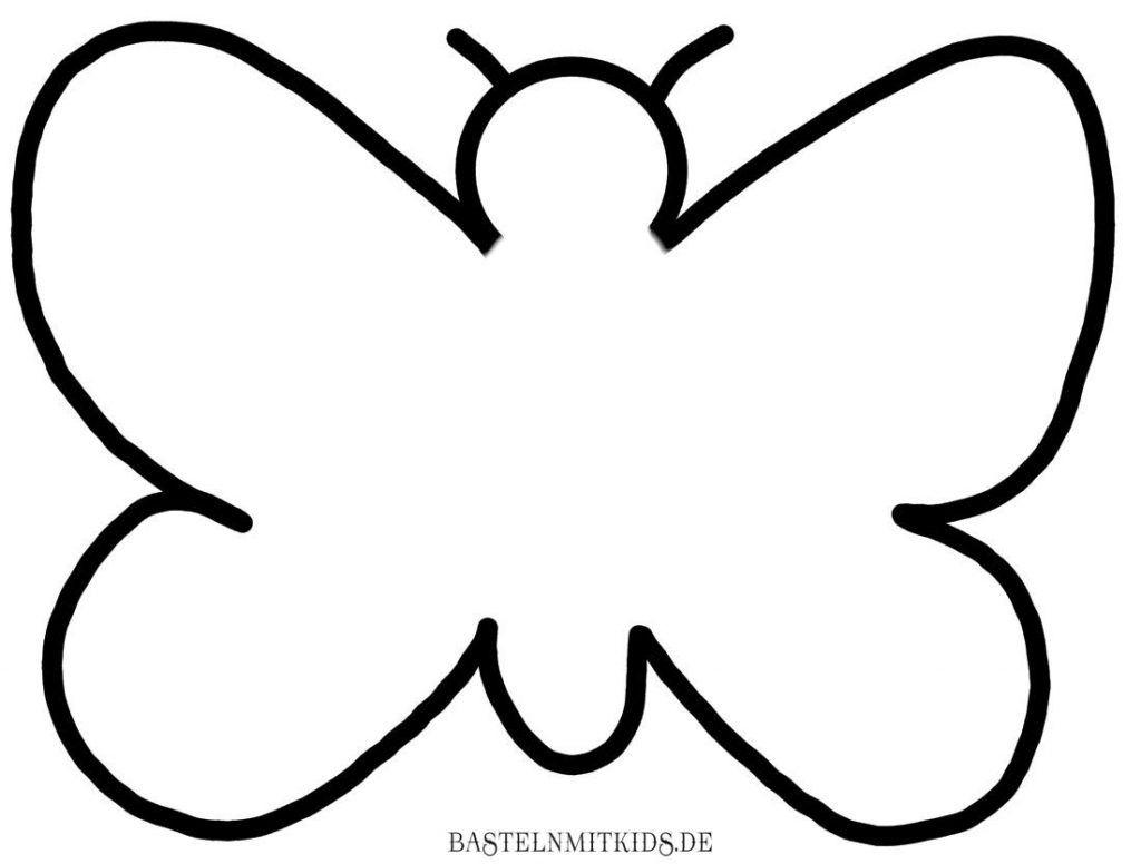 Malvorlagen Und Briefpapier Gratis Zum Drucken - Basteln Mit für Vorlagen Schmetterling