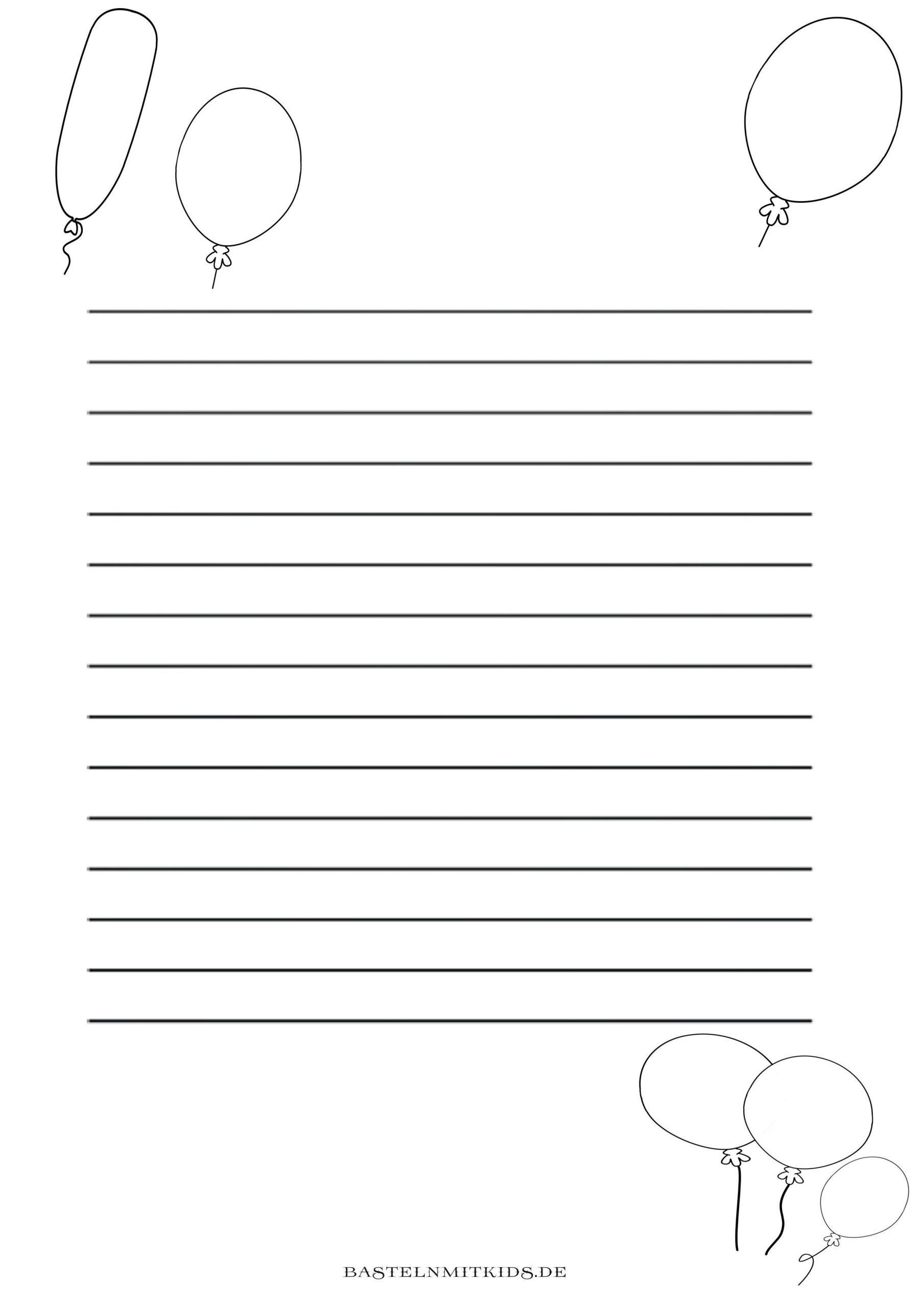 Malvorlagen Und Briefpapier Gratis Zum Drucken - Basteln Mit mit Briefpapier Drucken Kostenlos
