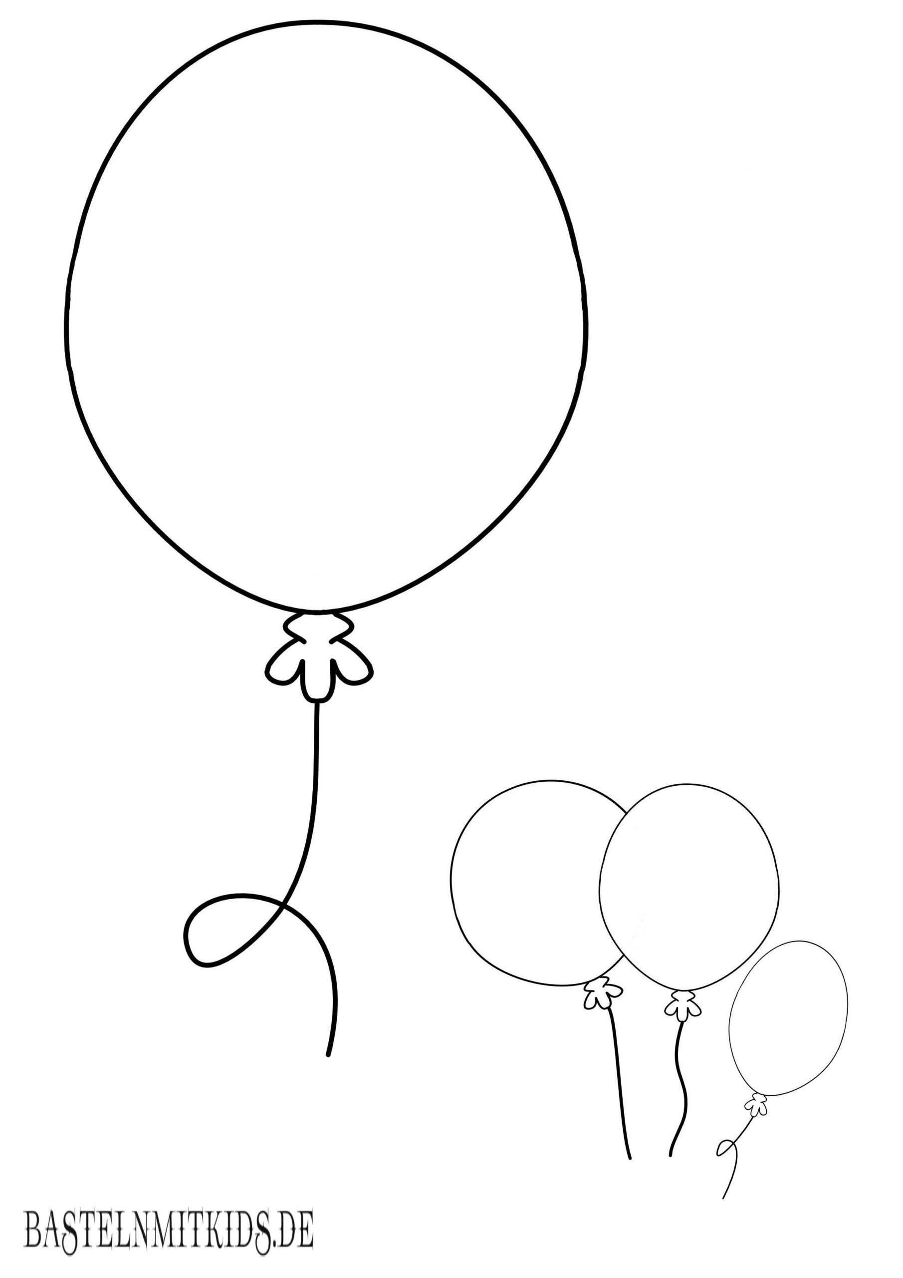 Malvorlagen Und Briefpapier Gratis Zum Drucken - Basteln Mit mit Luftballons Zum Ausmalen