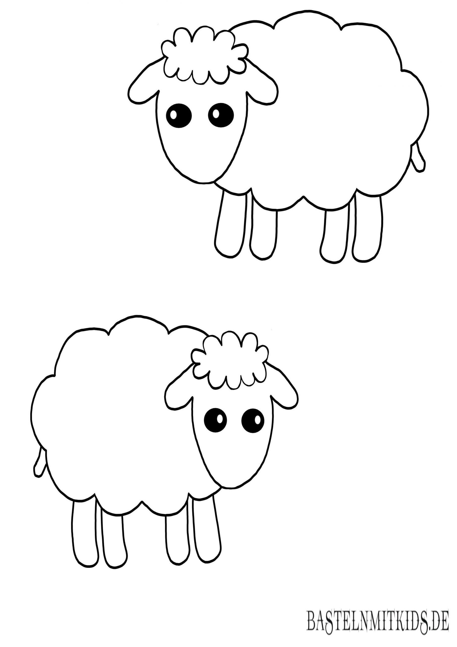 Malvorlagen Und Briefpapier Gratis Zum Drucken - Basteln Mit über Schaf Malen