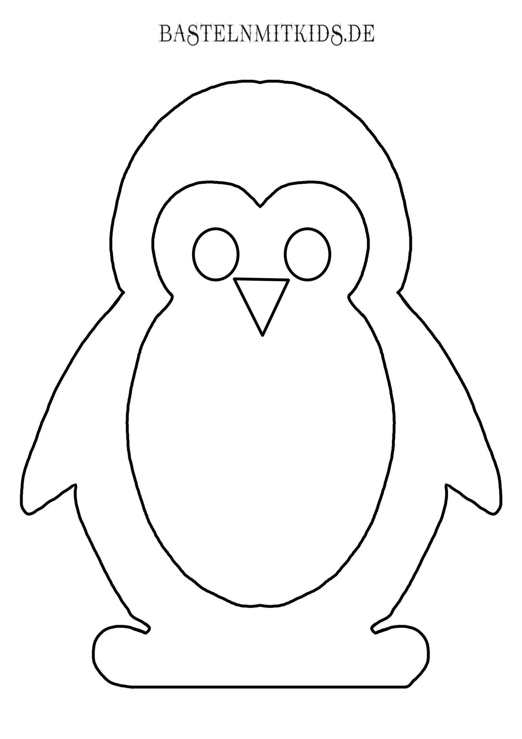 Malvorlagen Und Briefpapier Gratis Zum Drucken - Basteln Mit verwandt mit Pinguin Bastelvorlage