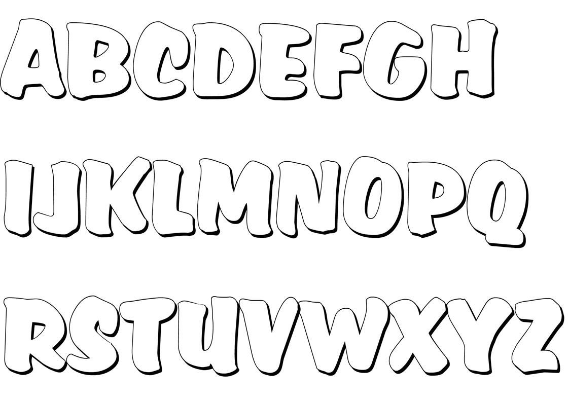 Malvorlagen Von Buchstaben Zum Ausdrucken Und Ausschneiden innen Ausmalbilder Buchstaben Kostenlos