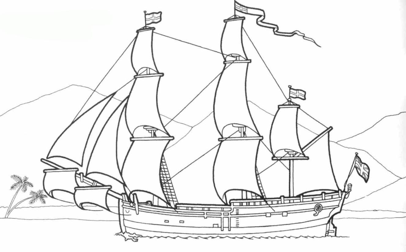 Malvorlagen Windjammer Kostenlos | Coloring And Malvorlagan ganzes Ausmalbild Schiff