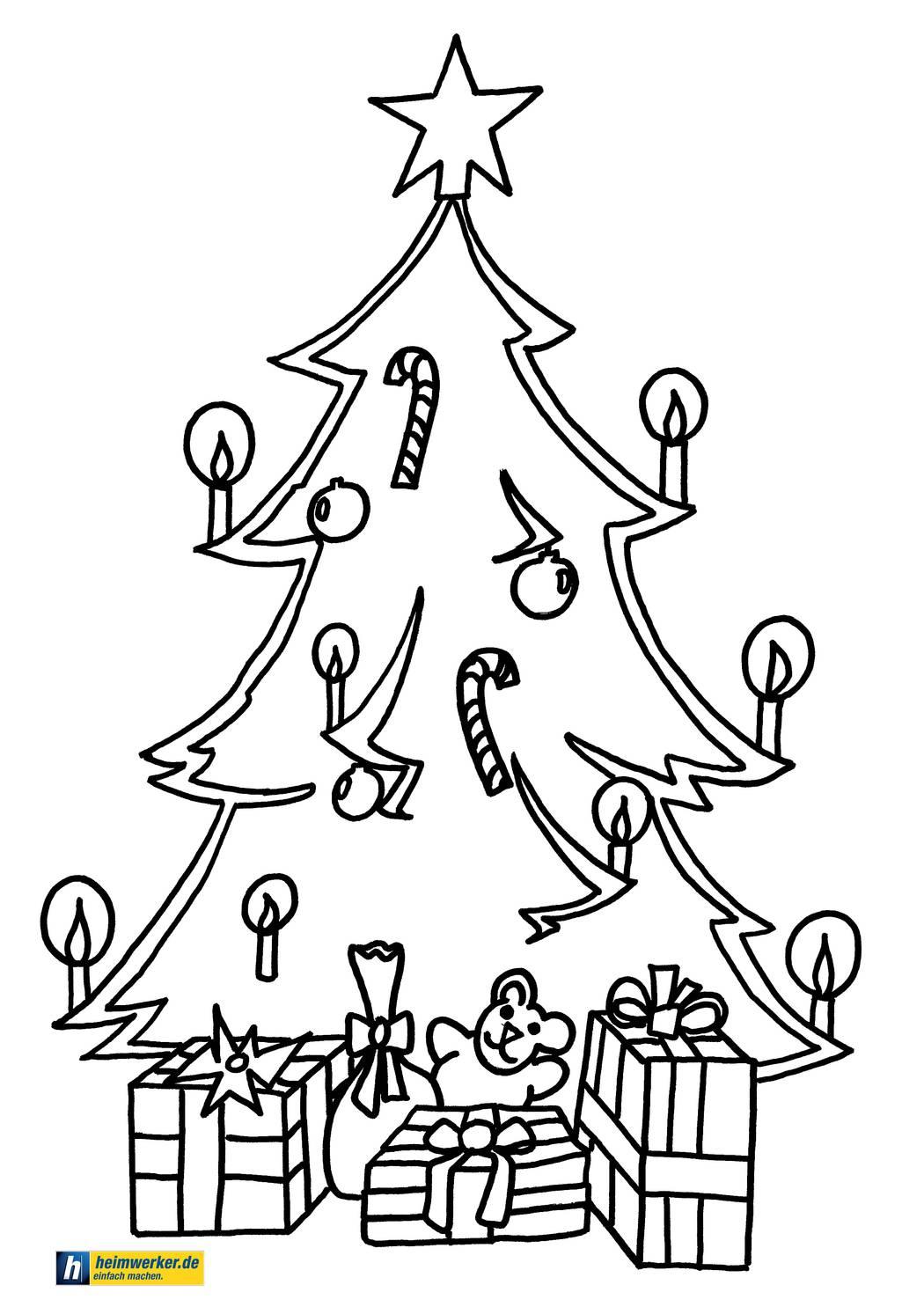 Malvorlagen Zu Weihnachten - Die Schönsten Ausmalbilder Zum für Malvorlagen Tannenbaum