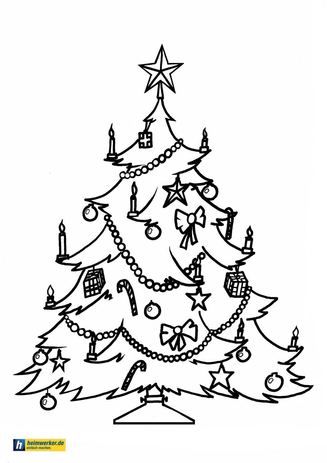 Malvorlagen Zu Weihnachten - Die Schönsten Ausmalbilder Zum für Weihnachtsbaum Malvorlage