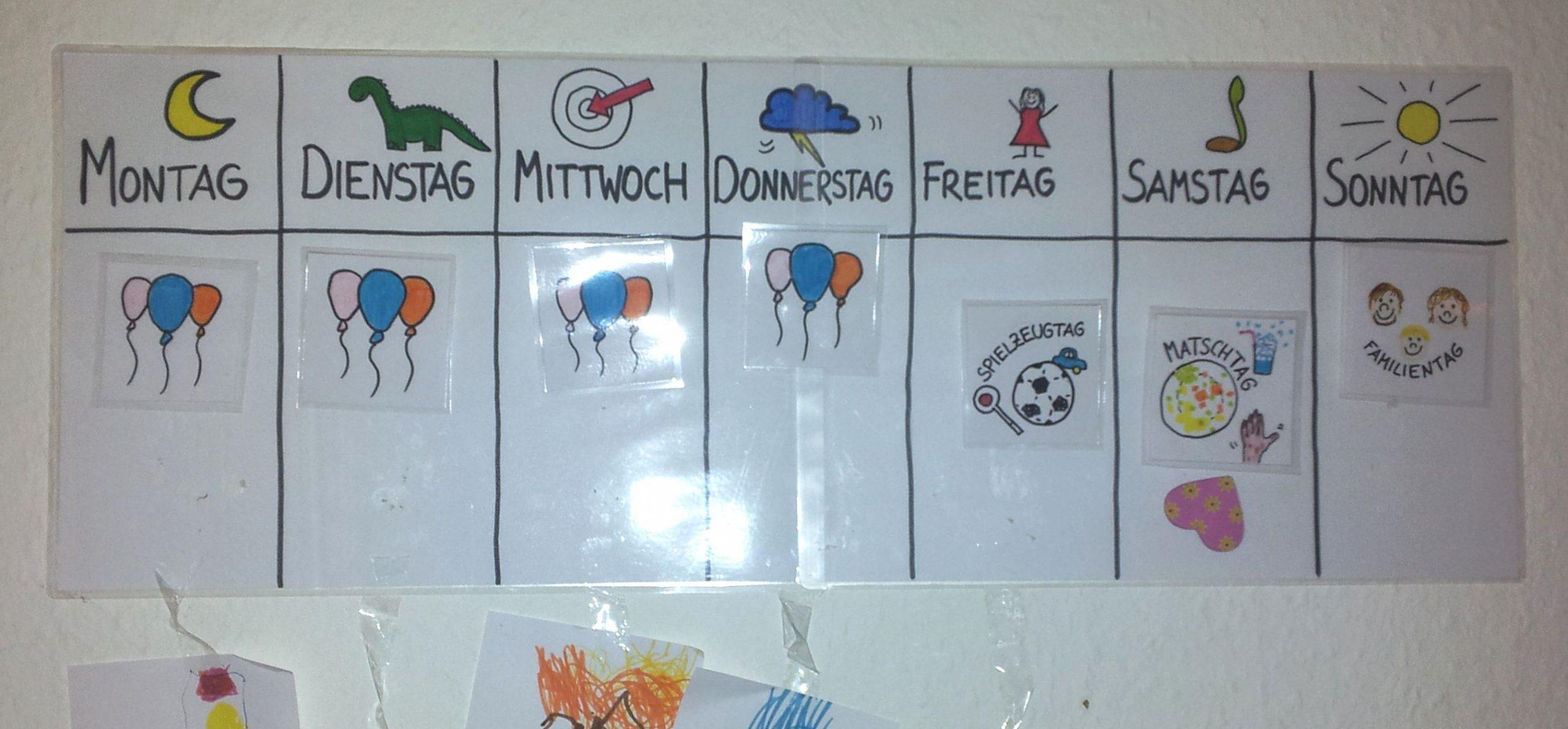 """Mama, Ist Heute Spielzeugtag?"""" Wochenplan Für innen Kalender Kindergarten"""