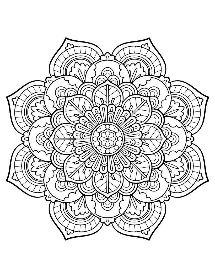 Mandala Ausmalbilder Kostenlos Malvorlagen Windowcolor Zum für Ausmalbilder Mandala