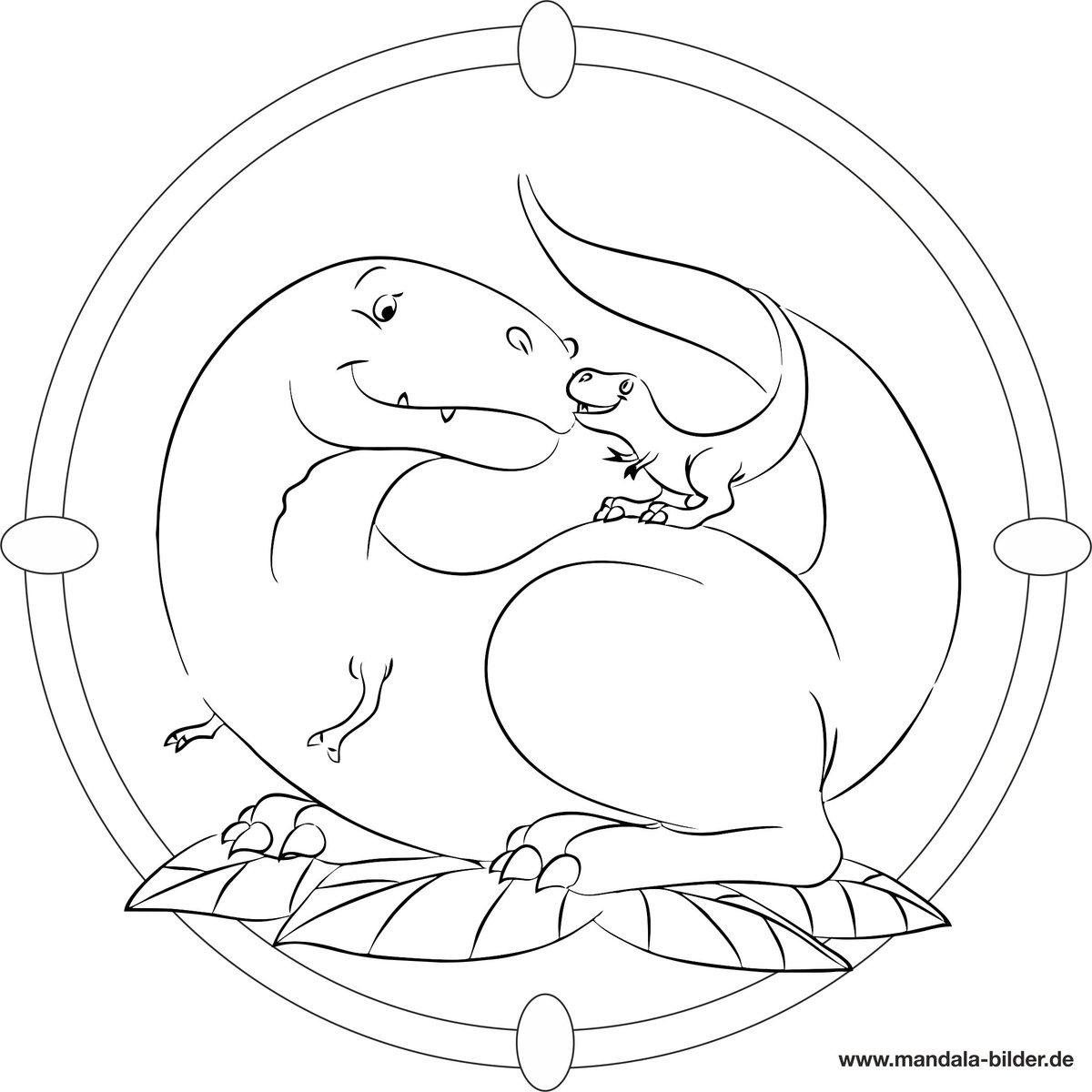 """Mandala-Bilder On Twitter: """"#dinosaurier Mit #dino Baby Als für Mandala Dino"""
