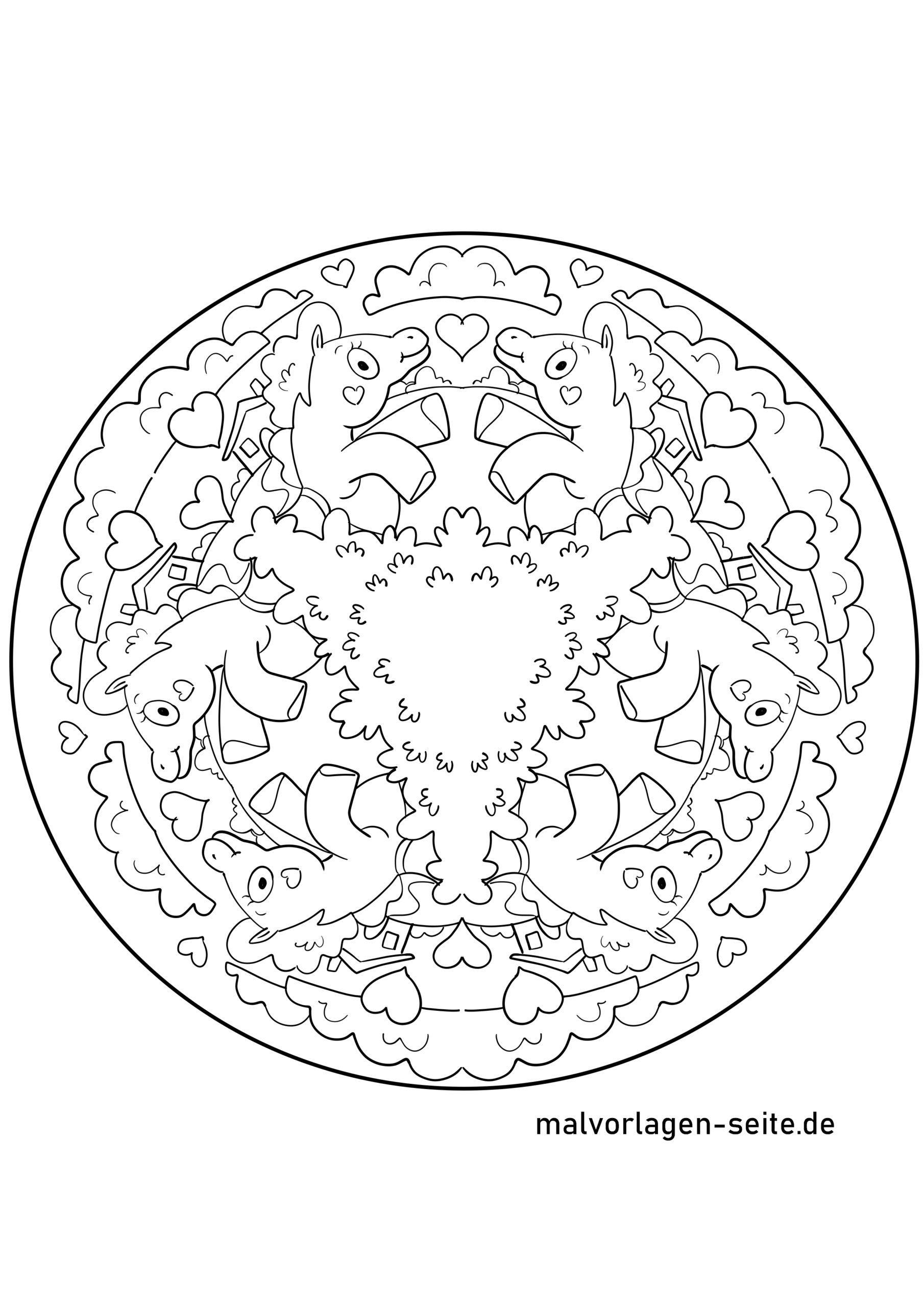 Mandala Einhorn - Ausmalbilder Kostenlos Herunterladen mit Mandala Einhorn