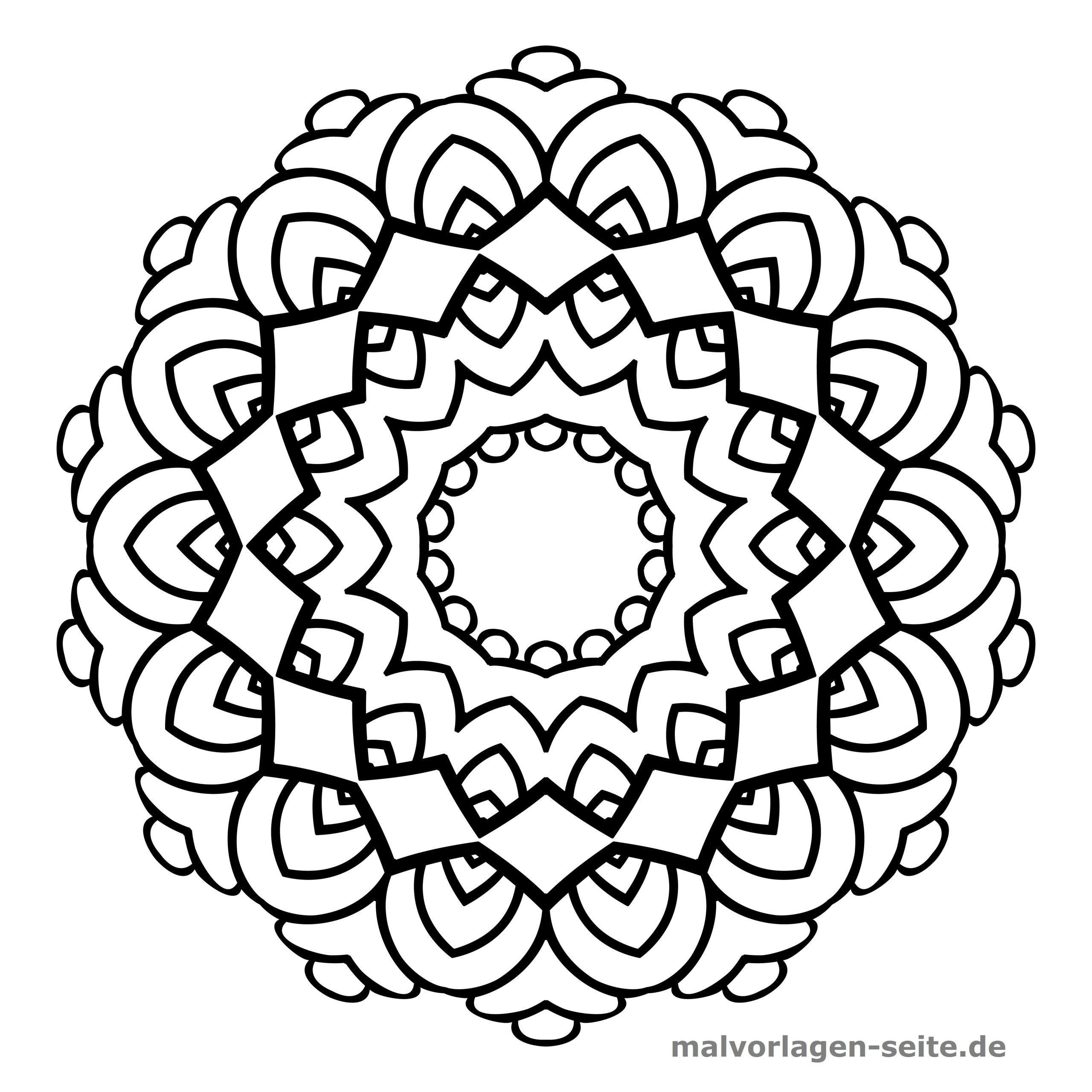 Mandala Für Kinder - Ausmalbilder Kostenlos Herunterladen ganzes Ausmalbilder Mandala