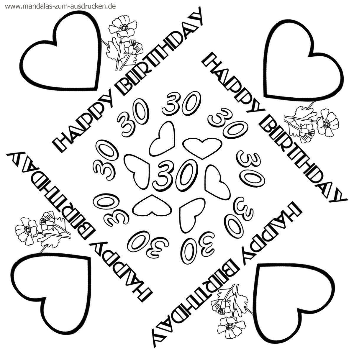 Mandala Geburtstag Zum Download (With Images) | Mandala bestimmt für Mandalas Geburtstag