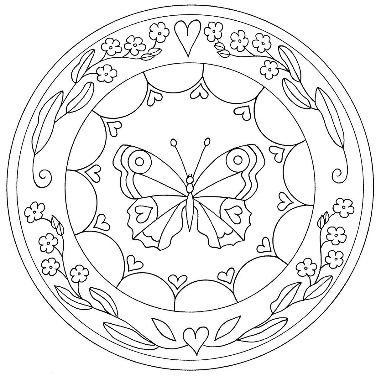 Mandala Zum Ausdrucken   Mandala Zum Ausdrucken, Mandala über Kindermandala