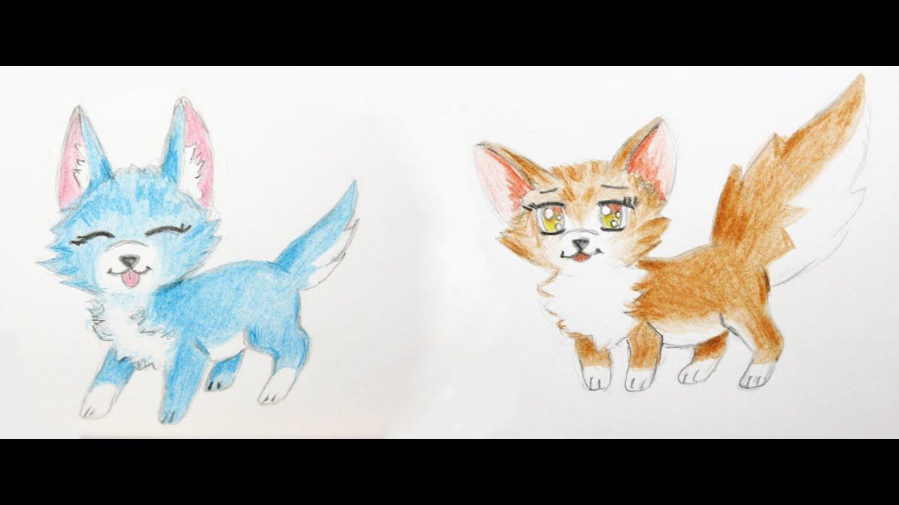 Manga Tiere Zeichnen Lernen #3: Fuchs Und Hund / Manga Zeichenkurs / Comic  Tiere in Manga Tiere