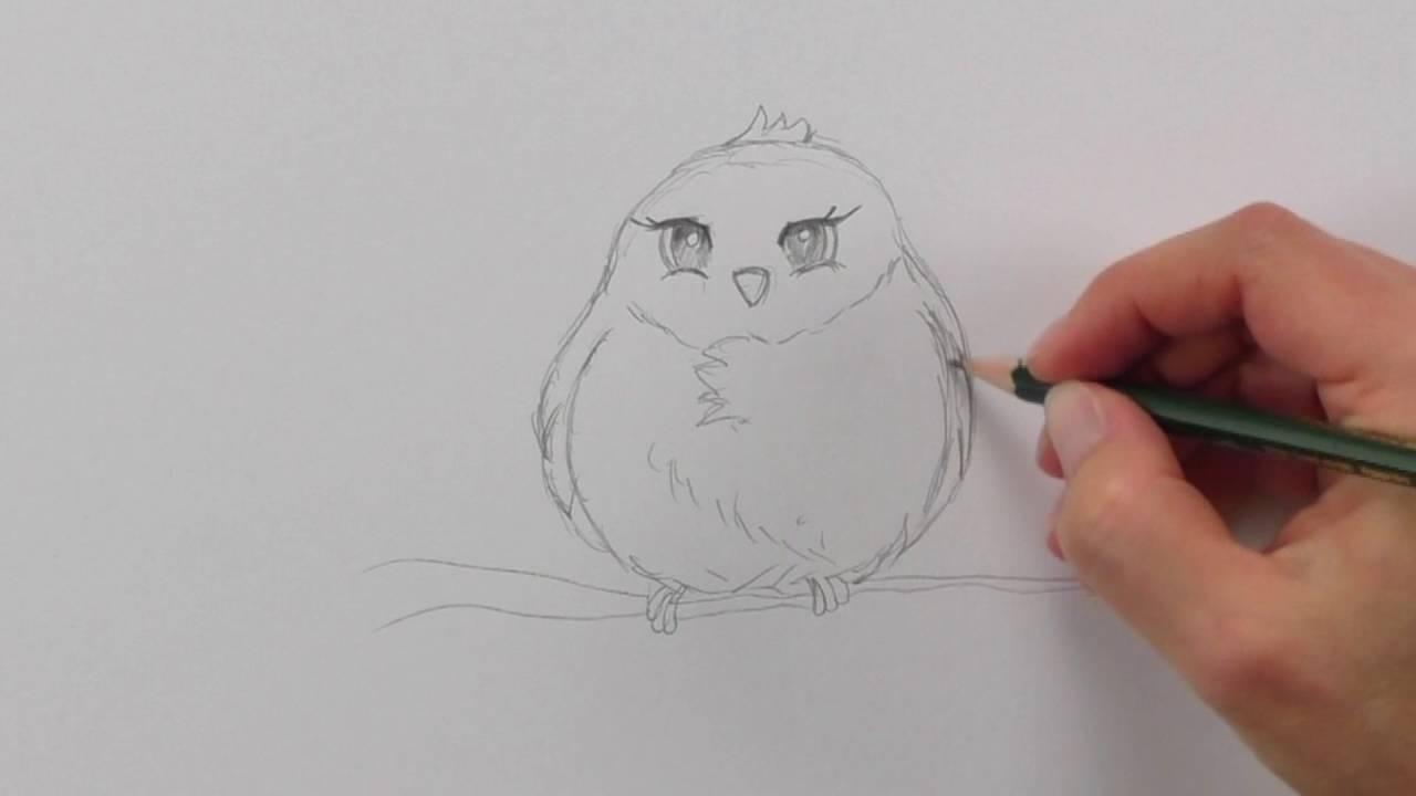 Manga Tiere Zeichnen Lernen #4: Vögel / Comic Tiere (Inkl. Manga-Ente) /  Manga Zeichenkurs für Manga Tiere