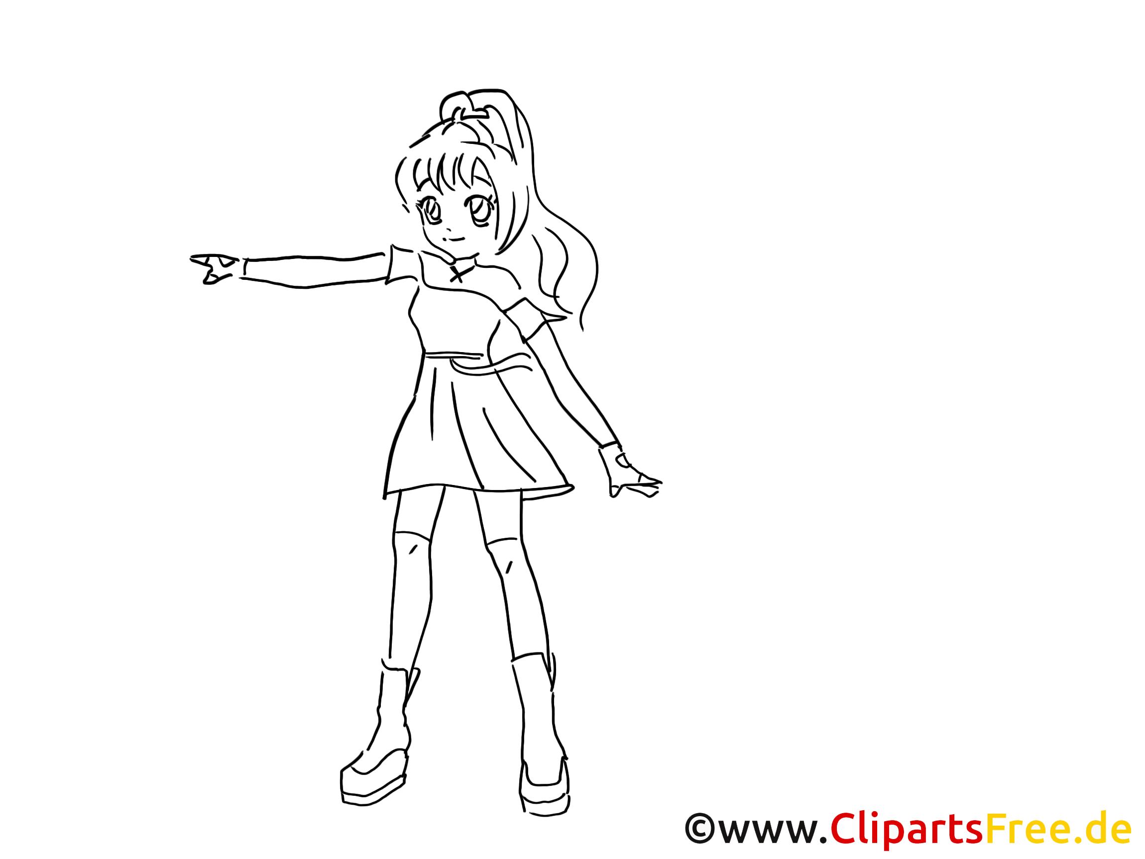 Manga Zum Ausmalen, Malvorlage, Ausmalbild Gratis für Manga Ausmalen