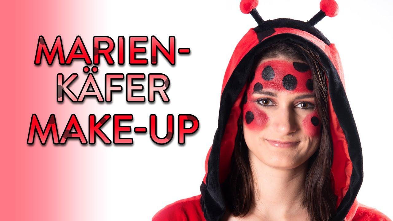 Marienkäfer Schminken - Make Up Tutorial - Fasching, Karneval, Halloween für Marienkäfer Fasching Schminken