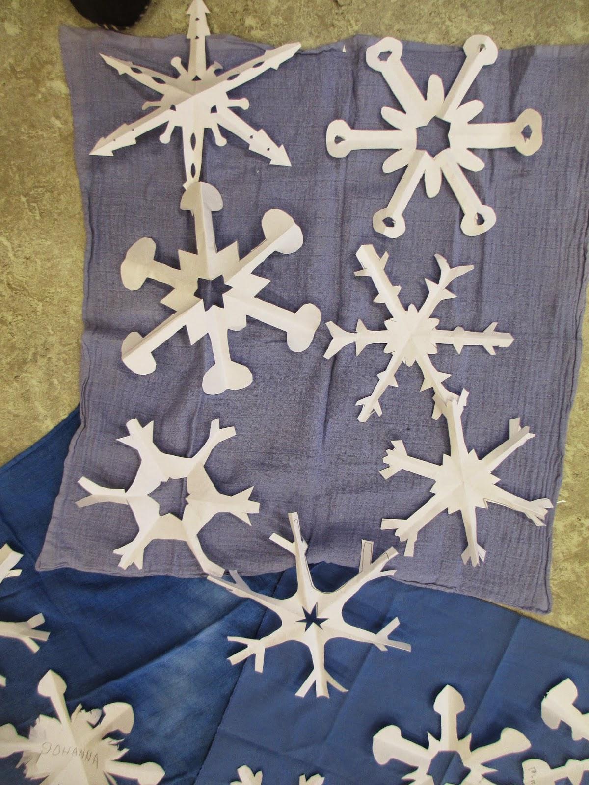 Märlimuus: Fensterdeko Winter - Scherenschnitt Schneeflocke für Schneesterne Schneiden