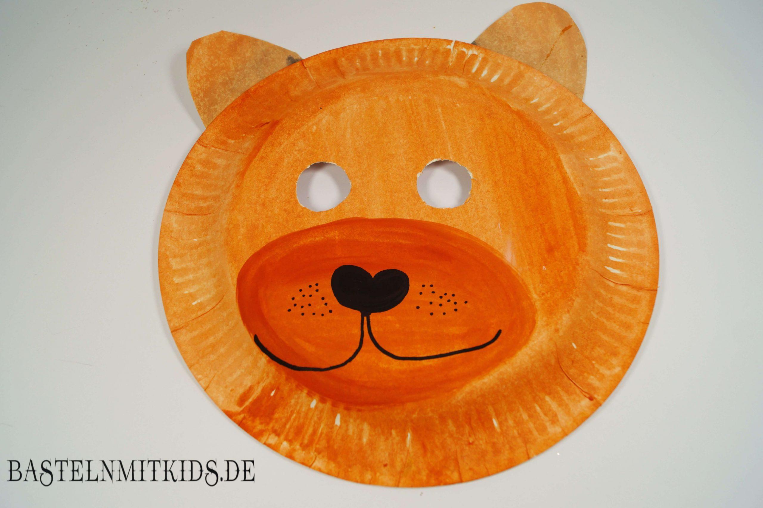 Maske Selber Machen Zum Fasching Im Kindergarten bestimmt für Löwenmaske Basteln
