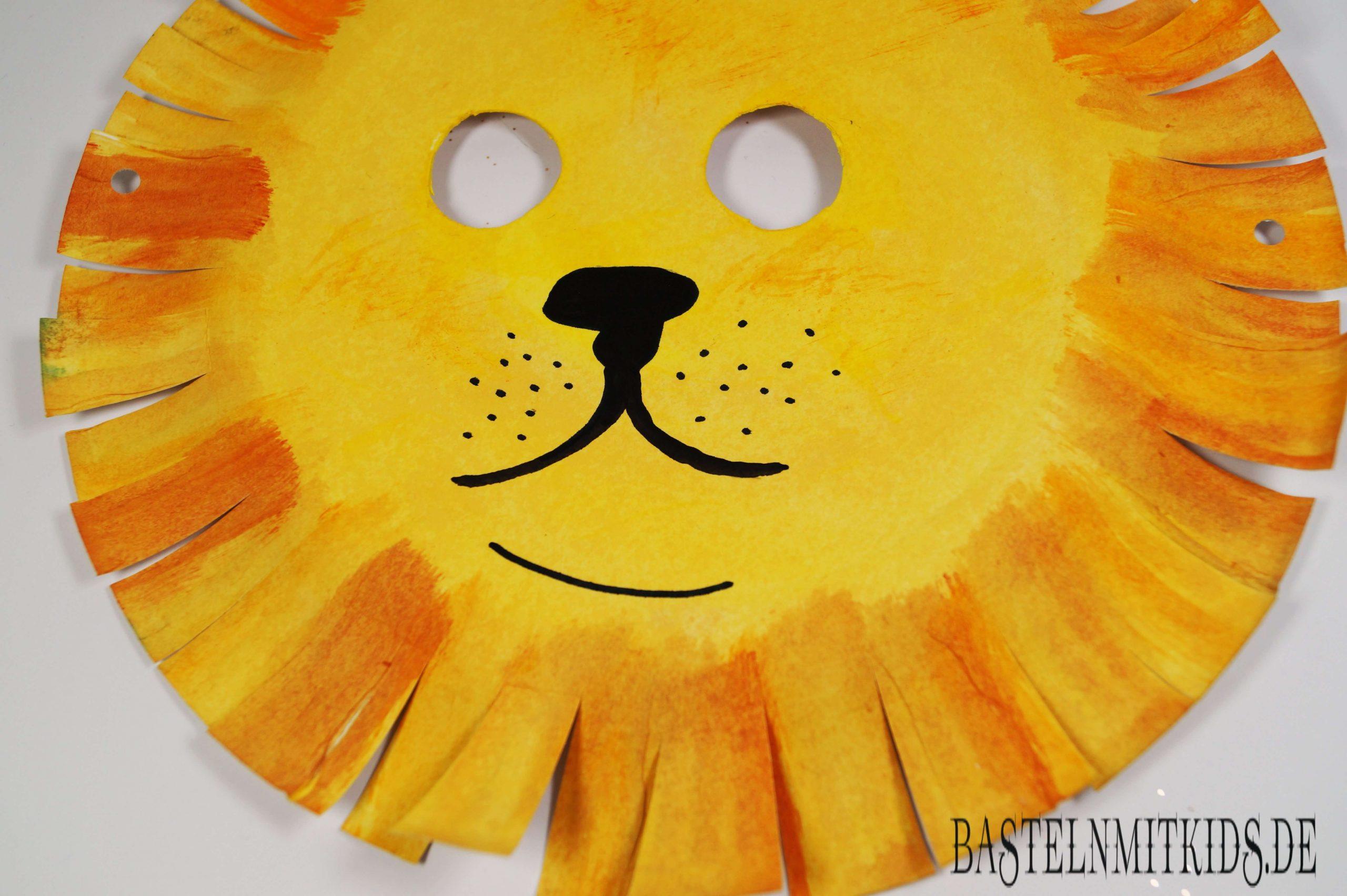 Maske Selber Machen Zum Fasching Im Kindergarten ganzes Löwenmaske Basteln