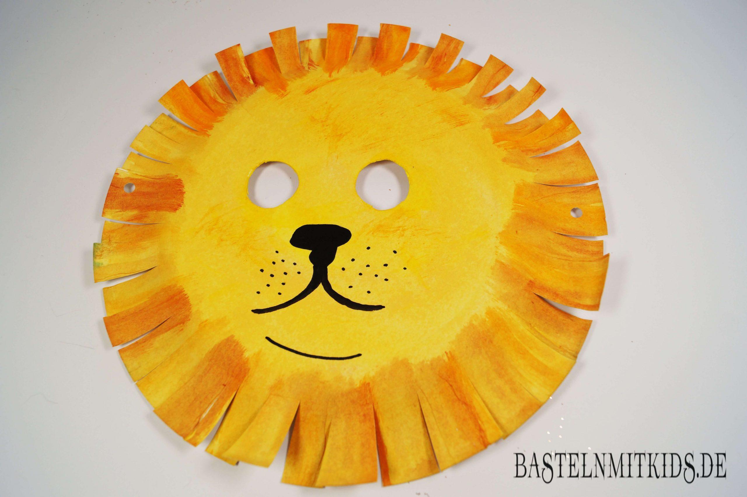 Maske Selber Machen Zum Fasching Im Kindergarten in Löwenmaske Basteln