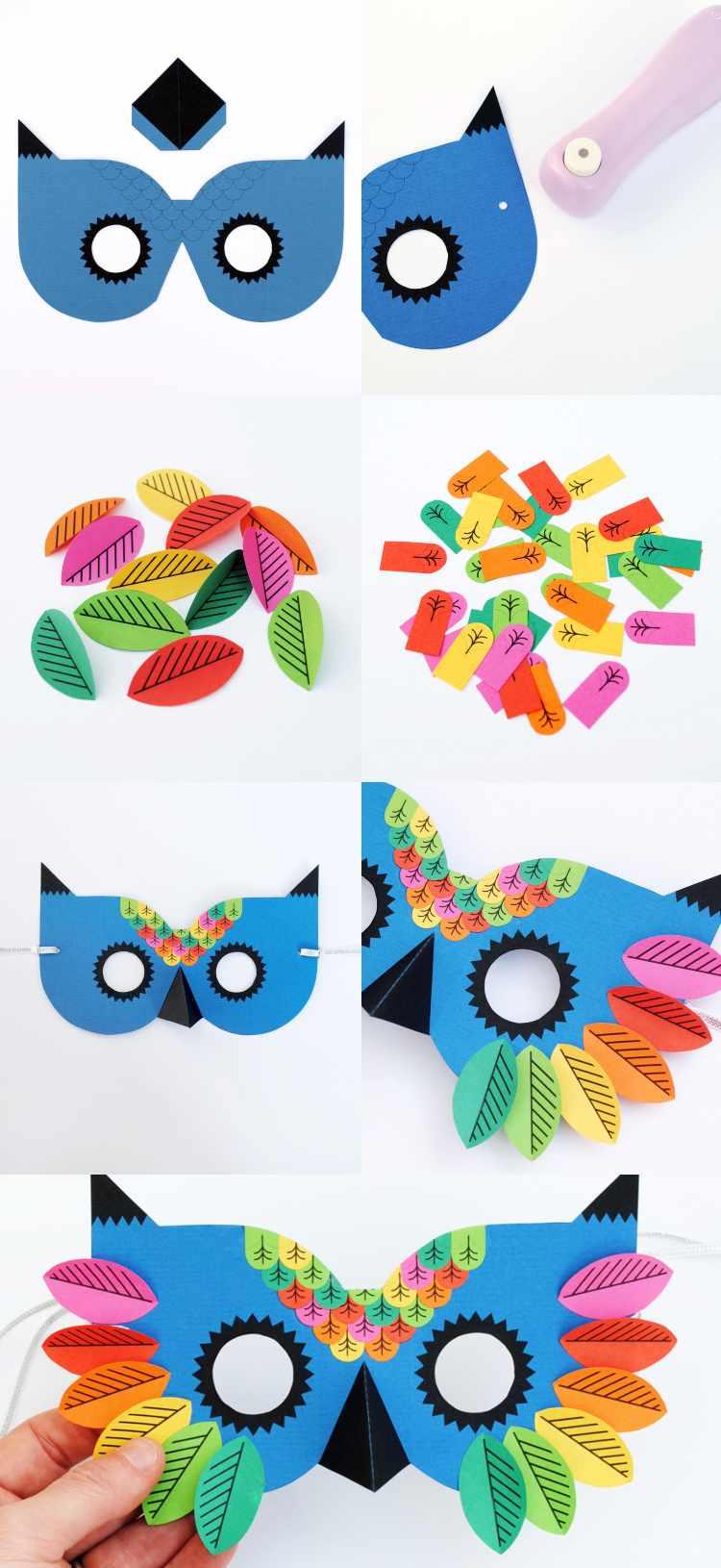Masken Basteln Für Kinder - 22 Ideen Und Vorlagen Zum Ausdrucken für Faschingsmasken Selber Basteln